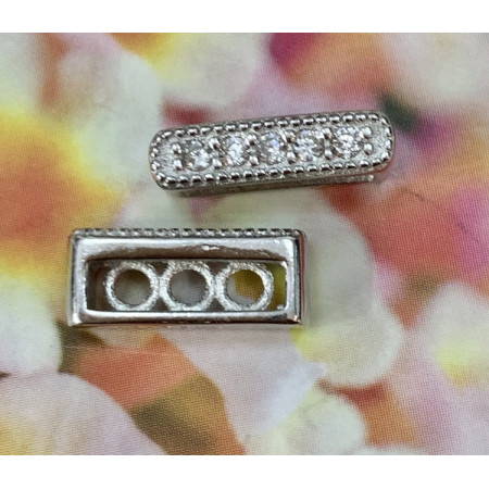 Разделитель серебро 925,на многорядное украшение 5x12мм