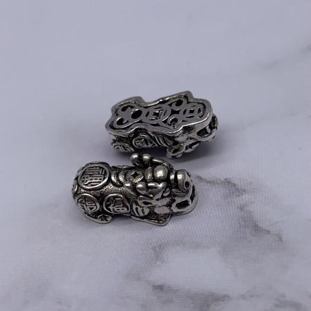 Пияо №2, серебро тайское, размер 20х9 мм, 1 шт