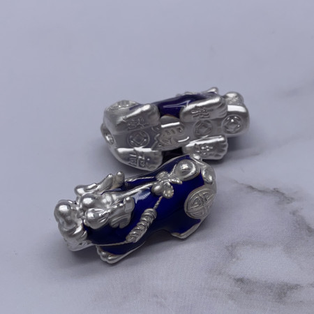Пияо №11, Серебро, меняет цвет от температурных перепадов, размер 23х10 мм, 1 шт