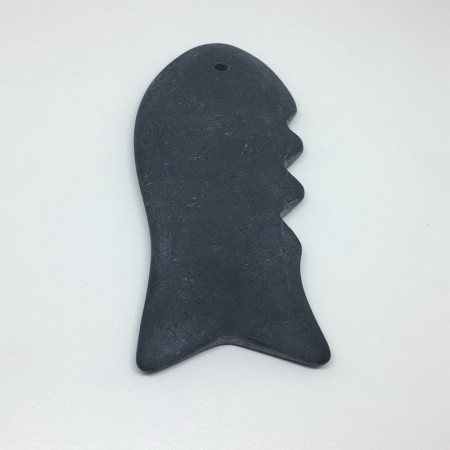 Пластина, скребок гуаша, шунгит, №01
