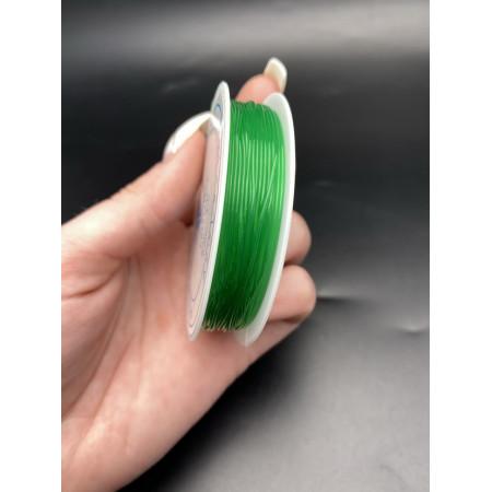 Леска-резинка, зелёная, для плетения браслетов, толщина 1 мм