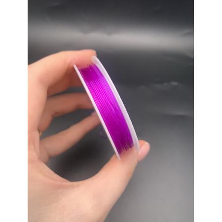 Леска-резинка, фиолетовая, для плетения браслетов, толщина 0,8 мм
