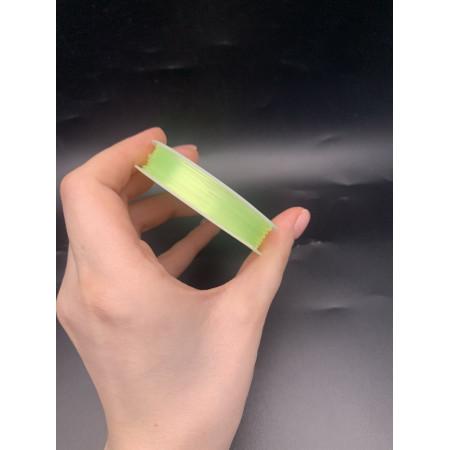 Леска-резинка, жёлтая (лимонная), для плетения браслетов, толщина 0,8 мм