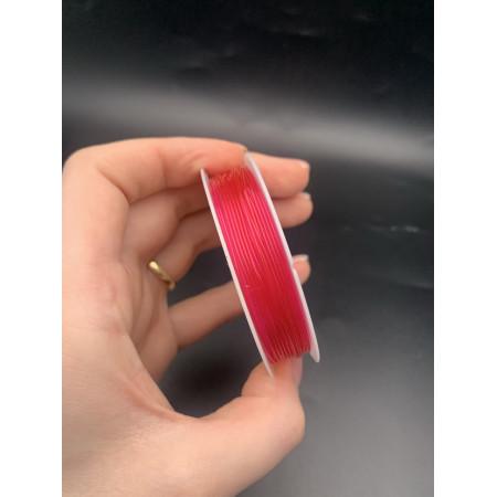Леска-резинка, ярко-розовая, для плетения браслетов, толщина 1 мм