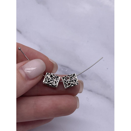 Разделитель - двухрядный, из тайского серебра, размер 10х8 мм