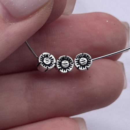 """Разделитель, """"Цветочек"""", из тайского серебра, размер 5х3 мм"""