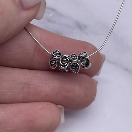 """Разделитель, """"Розочки"""", из тайского серебра, размер 5х3 мм"""