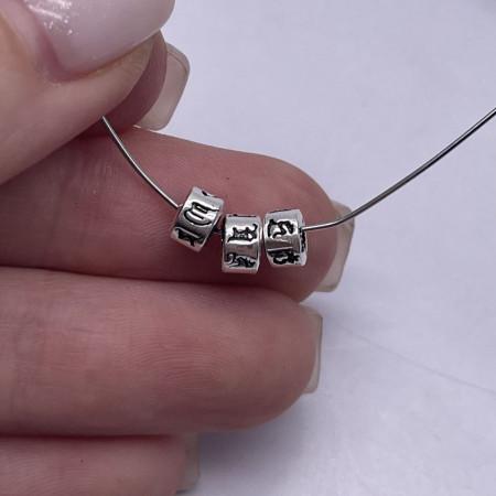 """Разделитель, """"Мантры"""", из тайского серебра, размер 5,5х3,8 мм"""