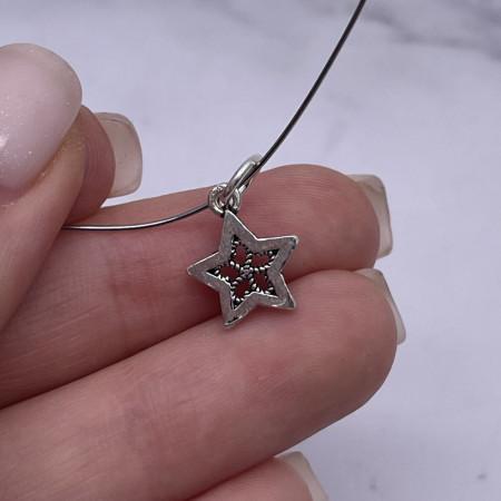 """Подвеска, """"Звезда"""", из тайского серебра, размер 17х11 мм"""