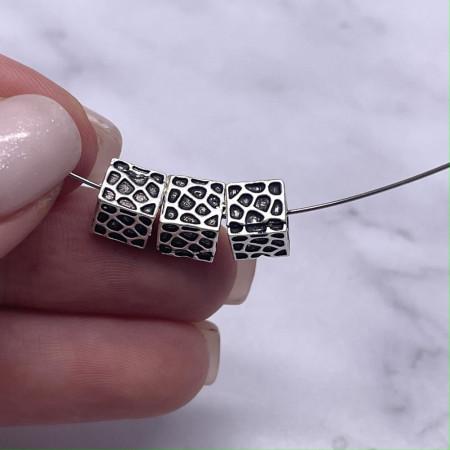 Разделитель - Кубик, из тайского серебра, размер 7Х7 мм