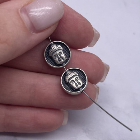"""Разделитель """"Будда"""", из тайского серебра, размер 11,5х4,5 мм"""