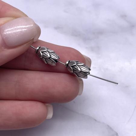 "Бусина ""Лотос"", из тайского серебра, размер 11,5х6,5 мм"