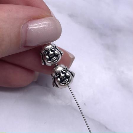 "Бусина ""Будда"" из тайского серебра, 10 мм"