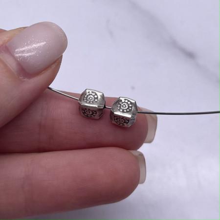 Разделитель - Кубик, из тайского серебра, размер 6,8Х6 мм