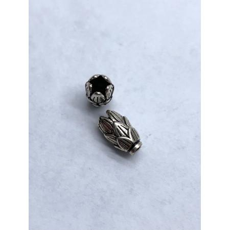 Бусина из тайского серебра 925 пробы, Ветка, 11х6 мм