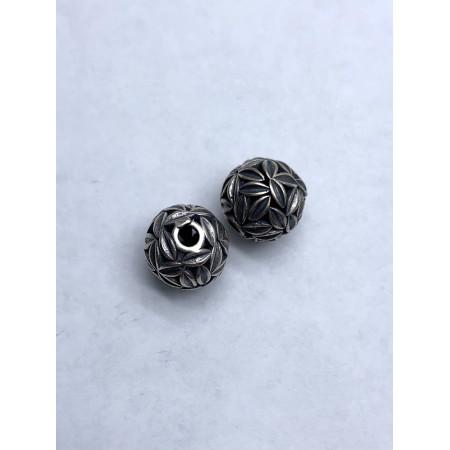 Бусина из тайского серебра 925 пробы, 12 мм