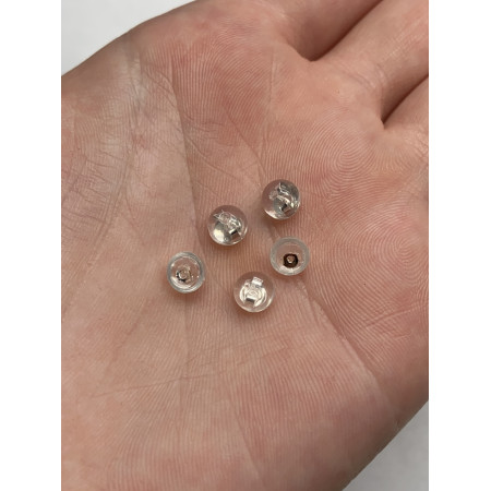 Заглушки, силикон, с серебряным ядром, 5х3 мм, цена за пару