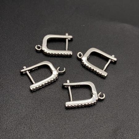 Швензы, №17, родированное серебро 925 пробы, 18 мм