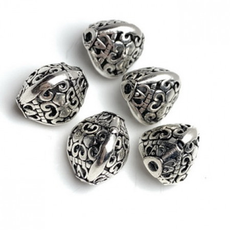Бусина из тайского серебра, 10 мм
