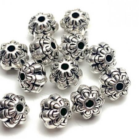 Бусина из тайского серебра, 6,5 х 5 мм