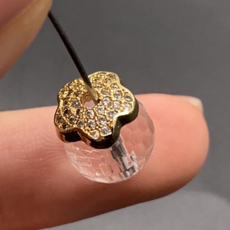 Ювелирная шапочка №12, для бусин, латунь, под золото, 9х3,5 мм, цена за шт