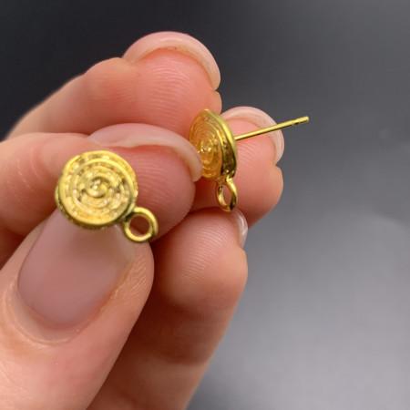 Швензы №131, гвоздик, латунь, под золото