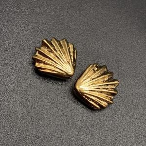 Бусина, TierraCast, с позолотой, латунь с родиевым покрытием, 13х4 мм, цена за шт