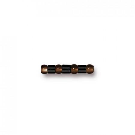 Бусины кримпы, обжимные бусины, TierraCast, воронёная сталь, 2х2 мм, цена за 10 штук