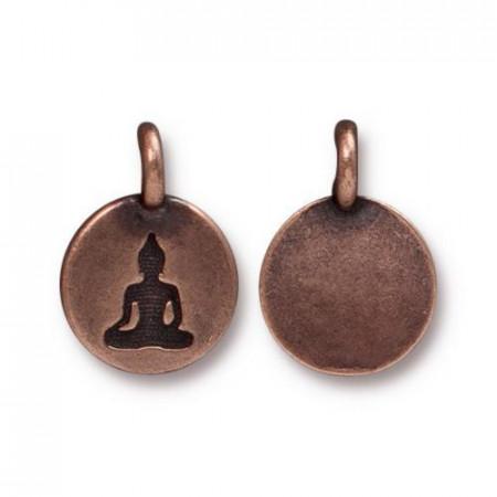 Подвеска, Оберег Будды, TierraCast, состаренная медь, цена за штуку